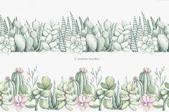 "Watercolor Pattern Set ""Succulents"" Product Image 5"