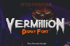 Vermillion Display Font Product Image 1