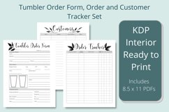 Tumbler Order Form, Customer and Order Trackers Product Image 1