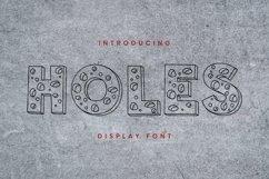 Web Font Holes Font Product Image 1