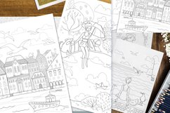 Coloring pages with funny animals, journeys and summer stuff Product Image 4