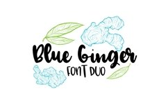 Blue Ginger Font Duo  Product Image 1