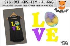 Easter Love Vinyl Applique SVG Cut File Product Image 1