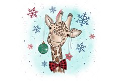 Cute Giraffe Sublimation Design PNG, New Year Bundle Product Image 2