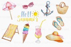Tropical Clip Art - Watercolor Summer Clipart Product Image 6