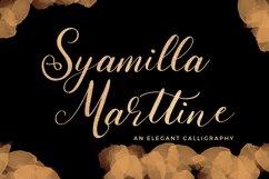 Syamilla Marttine An Elegant Calligraphy Font Product Image 1