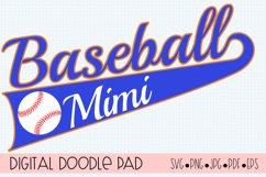 Baseball Mimi SVG | Silhouette and Cricut Cut File Product Image 1