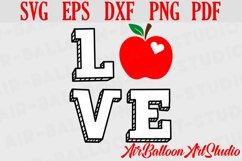Teacher Svg Teach Love Svg School Svg Love School SVG Love S Product Image 4
