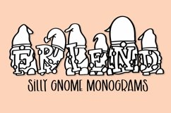 Web Font Gnome Friends Monogram Font - A-Z Letters Product Image 1