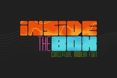 Inside the BOX Font & Patterns Product Image 1