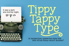 Tippy Tappy Type - a hand-made typewriter-ish font! Product Image 1