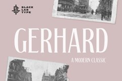 Gerhard - A Modern Classic Font Product Image 1