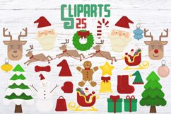 Merry Xmas CLIPART and FONT Product Image 2