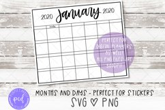 Planner Sticker SVG and PNG Files Product Image 2
