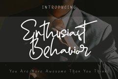 Enthusiast Behavior - Stylish Signature Font Product Image 1