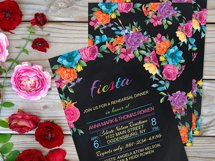 Watercolor Fiesta Floral Clipart  Product Image 4
