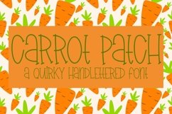 Web Font Carrot Patch - A Quirky Handlettered Font Product Image 1