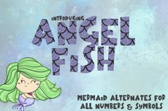 Mermaid Angelfish With Scales Font Product Image 1