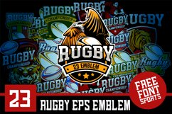 Set 23 Rugby Eps Emblem Logo Template Product Image 1