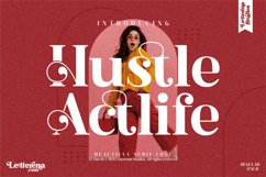 Hustle Actlife - Beautiful Serif Font Product Image 1