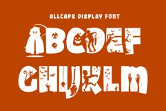 Halloween Party - A Silhouette Display Font Product Image 2