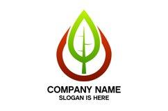 Eco water drop logo design vector Product Image 3