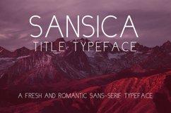 Sansica Title Font Product Image 1