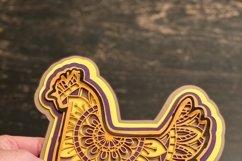 Chicken Mandala 3D Layered Design Product Image 4