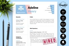 Nurse Resume CV Template for Word & Pages Adeline Henry Product Image 1
