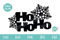 Christmas Cake Topper SVG with Snowflakes Product Image 2