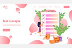 Time management. Landing page headers Product Image 4