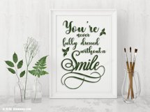 SVG and PNG cutting files, You are never fully dressed without a smile Product Image 2