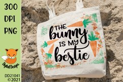 The Bunny My Bestie Easter Sublimation Design Product Image 1