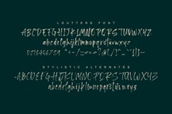 Loutters   Handwritten Brush Font Product Image 11
