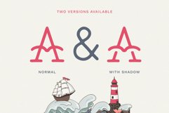 The Bearded Sailor - Tattoo Font / Line Font / Logo Font Product Image 2
