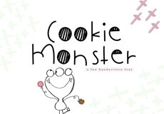 Cookie Monster - A Cute Handwritten Font Product Image 1