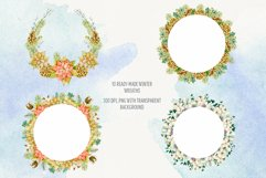 Watercolor winter wreath. Christmas wreath clipart Product Image 3