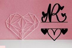 Web Font A Heart Split Monogram Font Product Image 4