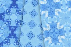 14 Seamless Ocean Blue Watercolor Patterns Product Image 2