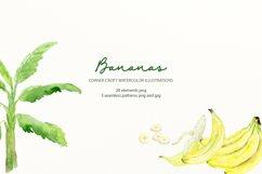 Watercolor Banana Clipart Product Image 5