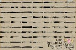 Long Dry Paint Stroke Photoshop Brushes Product Image 6