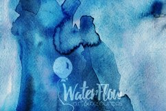 Bright Blue Watercolor Texture Digital Papers Scrapbooking Product Image 2