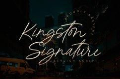 Kingston Signature - Stylish Script Font Product Image 1