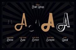 Black Queen font & bonus graphics Product Image 2