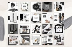 Canva Instagram Templates Black&White Product Image 4