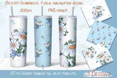 Delicate Chamomile. Tumbler sublimation design. Product Image 1