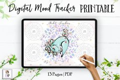 Digital Habit Trackers Y10 Yoga Series for Planner PRINTABLE Product Image 1