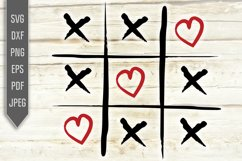 Tic Tac Toe Hearts Svg. Valentines Day dxf, png, eps Product Image 2