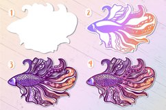 3D Zentangle Fish | 3D Papercut SVG Product Image 2