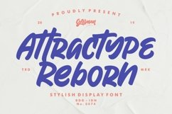 Attractype Reborn - Stylish Display Font Product Image 1